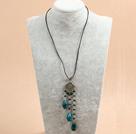 珍珠石榴石贝壳项链