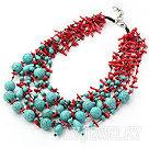 珊瑚松石项链