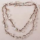 长款白水晶蛋白石项链(可做多层项链或手链)