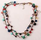长款多宝石项链(可做多层项链或手链)