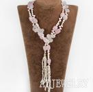 珍珠芙蓉石项链毛衣链