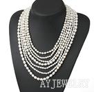 珍珠项链 多层款