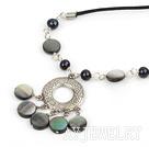 珍珠黑蝶贝项链