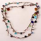 长款彩色水晶项链(可做多层项链或手链)