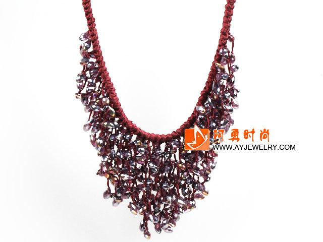 东陵玉玻璃水晶项链