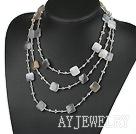 巴西玛瑙水晶项链毛衣链