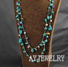珍珠松石长款项链毛衣链
