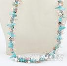 珍珠水晶亚马逊石项链