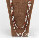 红白水晶项链毛衣链