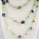紫萤石项链