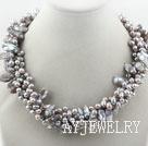 灰色染色珍珠项链