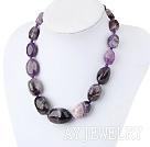 紫晶异形塔链 简约单层塔链款