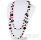 红珊瑚黑玛瑙项链毛衣链