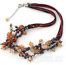 珍珠玛瑙项链