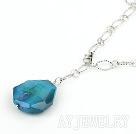 结晶蓝玛瑙项链