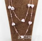 水晶琉璃项链毛衣链