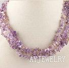 紫黄晶项链