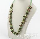 水晶花绿石项链