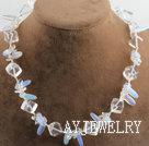 白水晶蛋白石项链