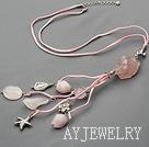 粉晶粉玛瑙项链