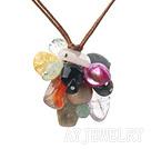 彩色宝石项链