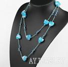 水晶心形琉璃项链毛衣链