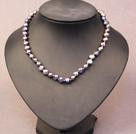 灰黑色土豆形珍珠项链