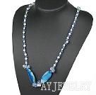 珍珠水晶玛瑙项链毛衣链