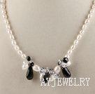 珍珠黑玛瑙项链