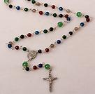 时尚多彩玛瑙十字架项链