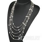 天然白珍珠项链毛衣链