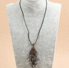 镀彩水晶皮绳项链