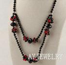 黑红水晶项链