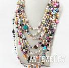 珍珠贝壳宝石项链