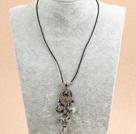 纽扣珍珠海贝珠项链毛衣链