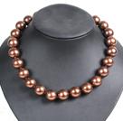 16mm棕色海贝珠项链