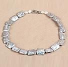 灰色再生珍珠项链