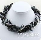 牙齿珍珠水晶黑玛瑙项链