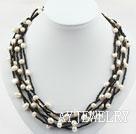 珍珠玻璃珠项链
