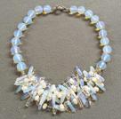 珍珠蛋白水晶项链