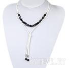 黑色珍珠项链毛衣链 无结扣款