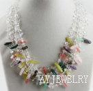 白水晶多宝石项链