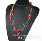 珍珠珊瑚项链毛衣链