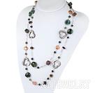 珍珠水晶印度玛瑙项链毛衣链 130cm合金链长款