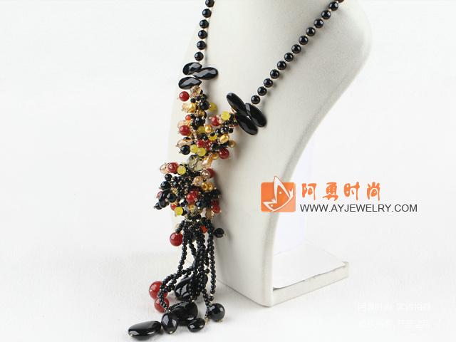 黑红玛瑙项链