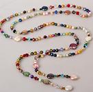 多彩系列珍珠水晶长款项链