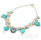 珍珠松石琉璃项链