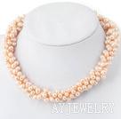 偏孔珍珠项链