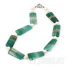 珍珠绿玛瑙项链