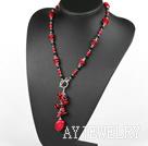 黑水晶珊瑚项链